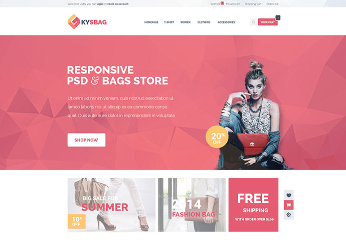 Kysbag - Responsive WordPress WooCommerce Theme