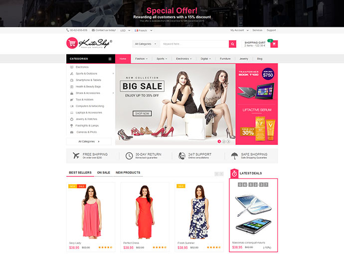 KuteShop - Multipurpose WooCommerce Wordpres Theme