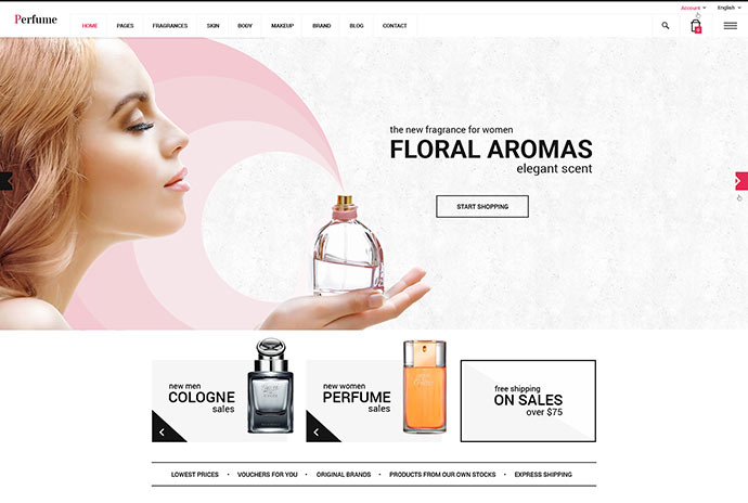 Perfume - Woocommerce WordPress Theme