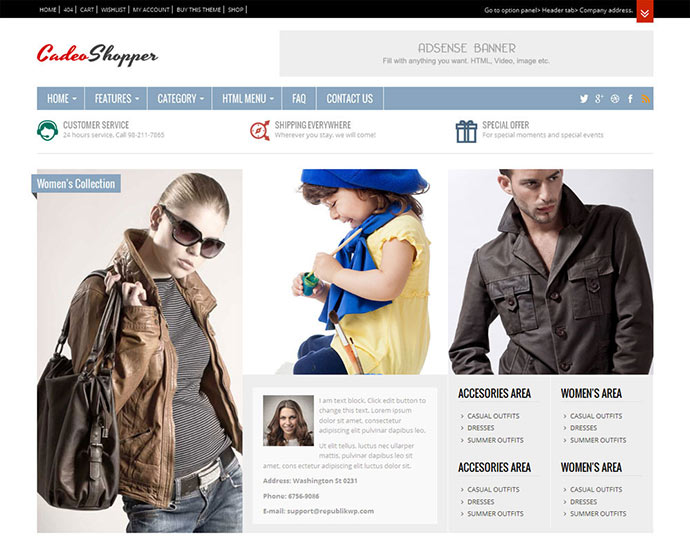 CadeoShopper - Multipurpose WooCommerce Magazine