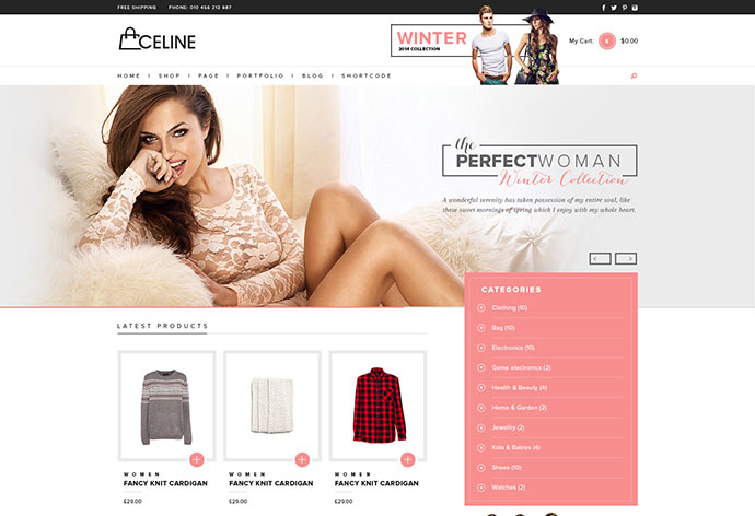 Celine - Responsive Shopping WordPress Theme