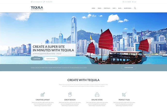 Tequila  |  Unique Multi-Purpose WooCommerce Theme