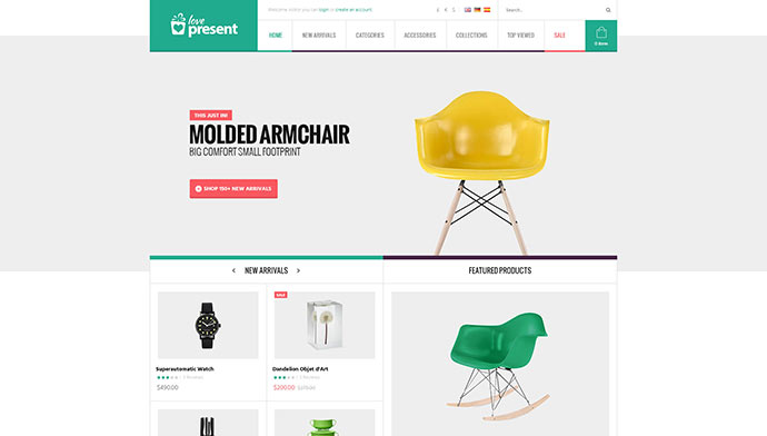 Present - Pro GiftShop WordPress Theme
