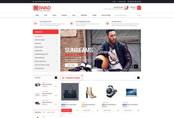 Responsive Supermarket Online Theme - Oswad