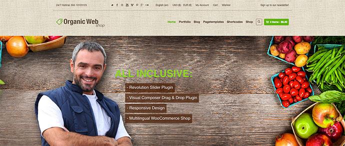 Organic Web Shop - A Responsive WooCommerce Theme