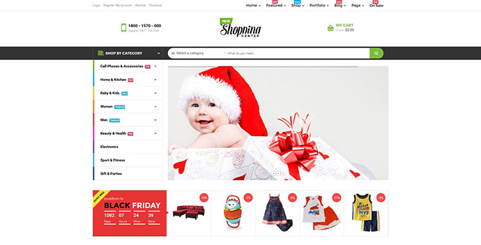 Newshopping - New Marketplace Woocommerce Themes