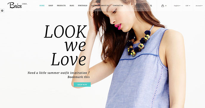 Brize - Responsive WooCommerce Fashion Theme