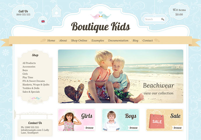 Boutique Kids Creative - WordPress WooCommerce