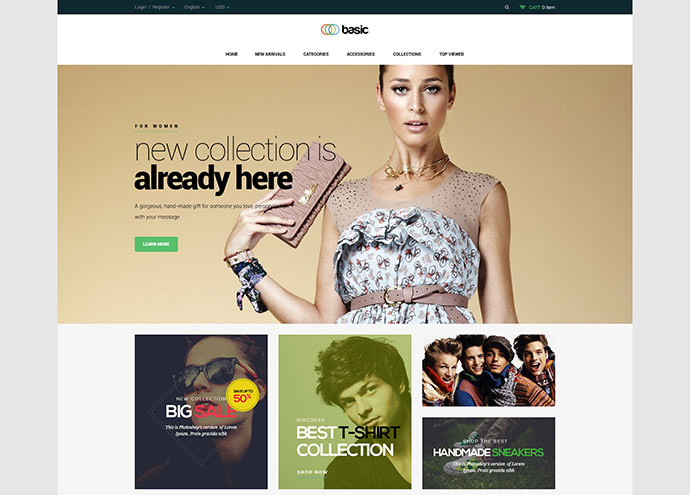 Basic || Multipurpose WooCommerce Theme