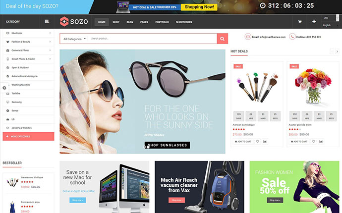 SOZO - Full Screen Mega Shop Theme