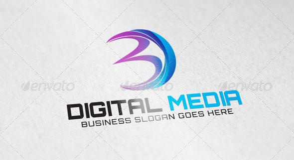 Digital Media Letter D Logo