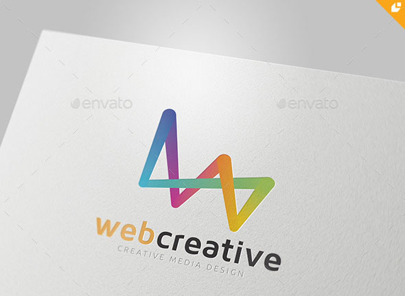 Web Creative Media Design Logo