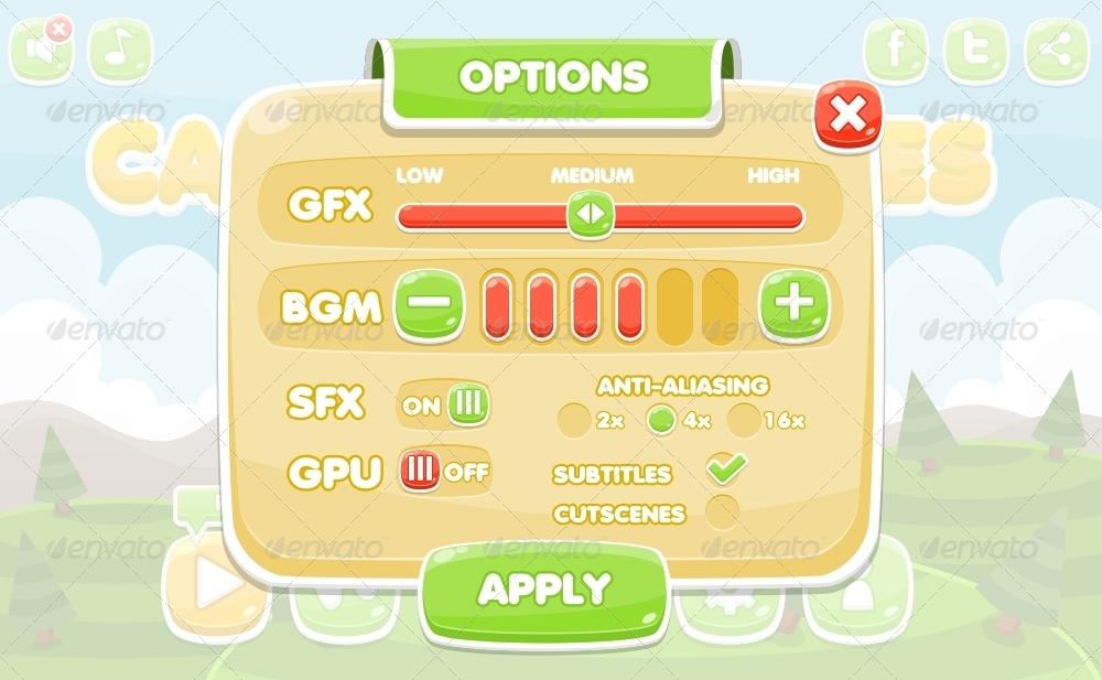 60 Fantastic Game UI & HUD Elements | Web & Graphic Design