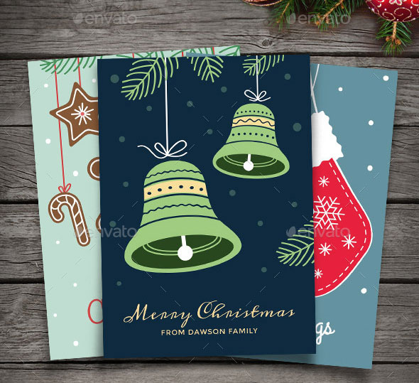25 Cool Psd Christmas Card Templates Web Graphic Design Bashooka