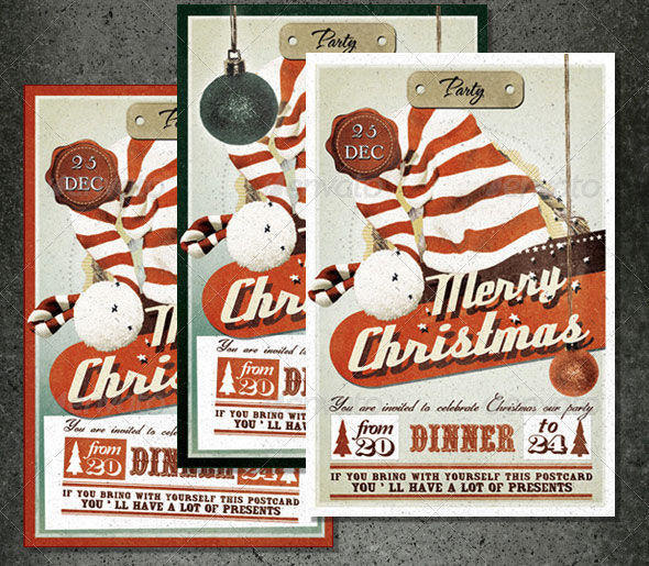 Vintage Christmas Card & Invite