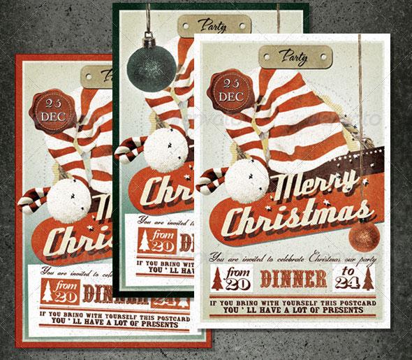 Vintage Christmas Card & Invite
