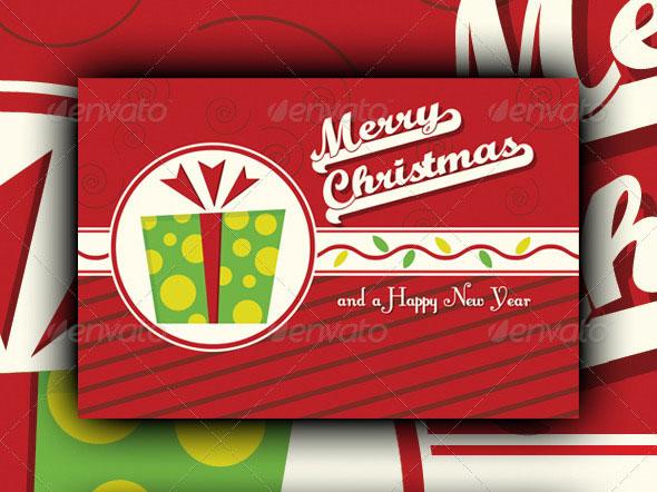 Retro Merry Christmas Card V1