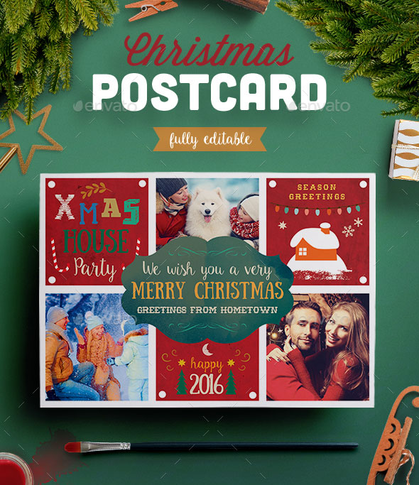 Lovely Christmas Photo Postcard II