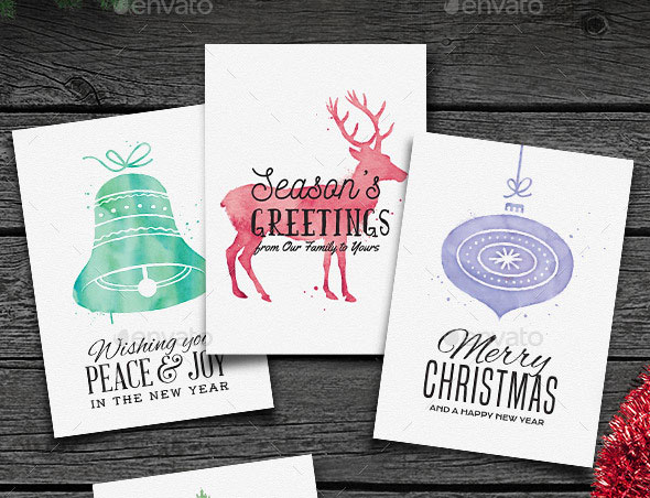 Watercolor Christmas Cards vol. 1