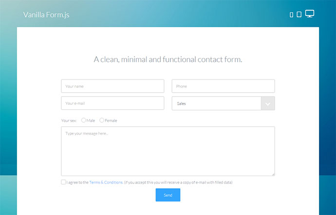 10 jQuery AJAX Contact Form Plugins | Web & Graphic Design | Bashooka