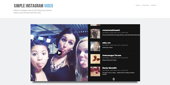 Simple Instagram Video