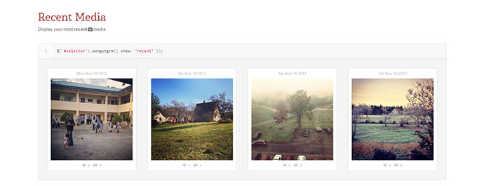 jquery plugin that displays your instagram media to your web page