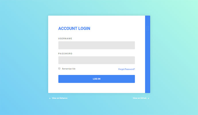 20 interesting css login form designs