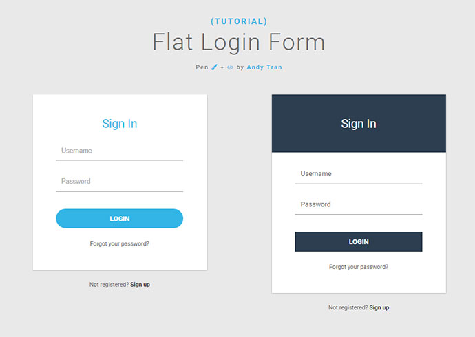 20 Interesting CSS Login Form Designs | Web & Graphic Design ...