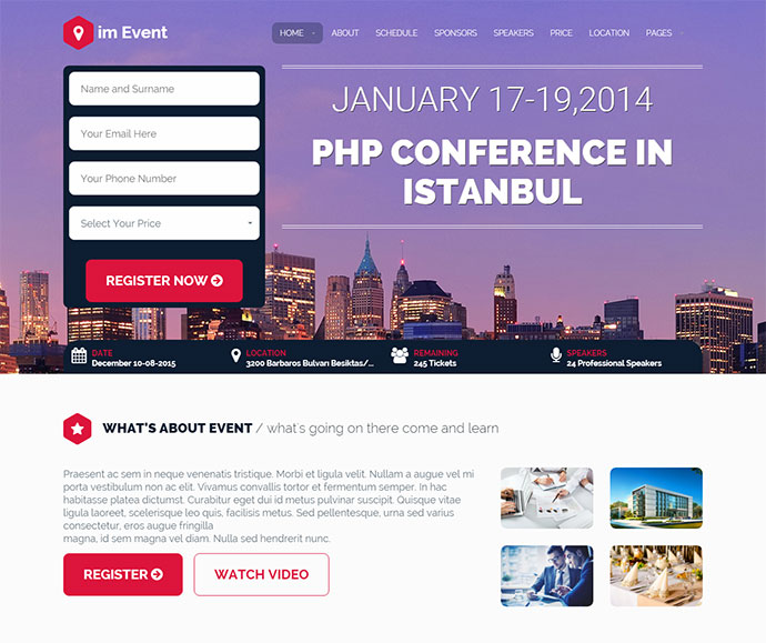 iamevent wordpress theme