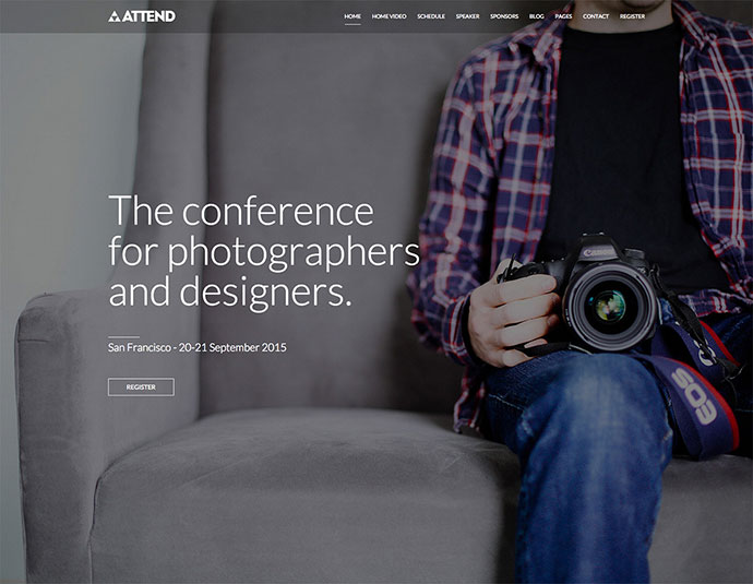 Conference & Event WordPress Theme