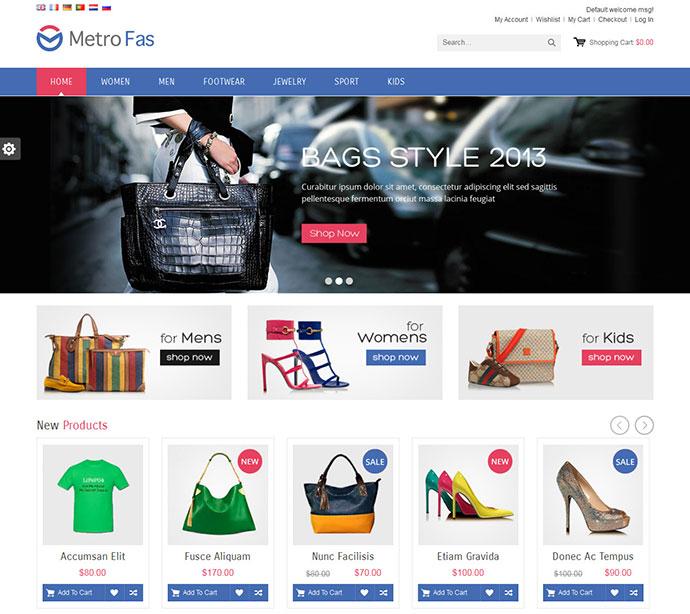 MetroFas Responsive Magento Theme