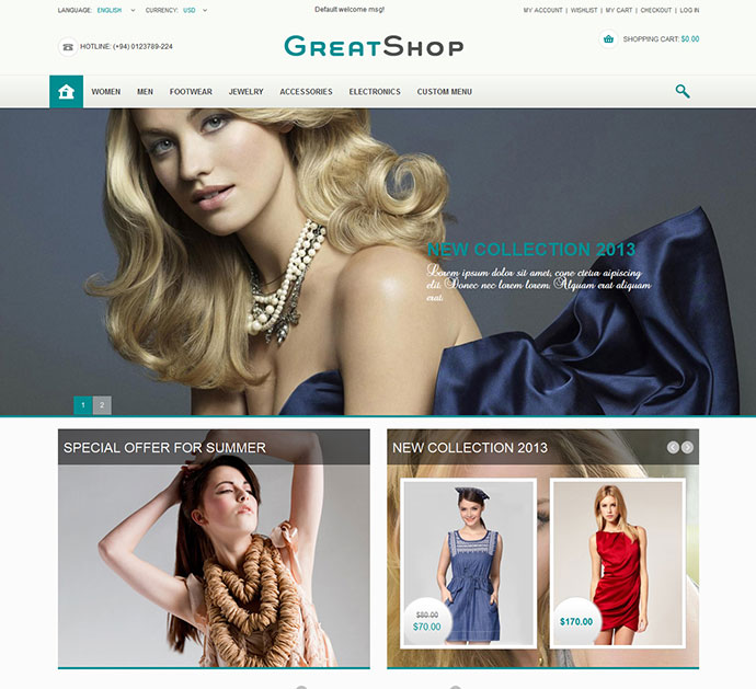 Great Shop Responsive Magento Theme