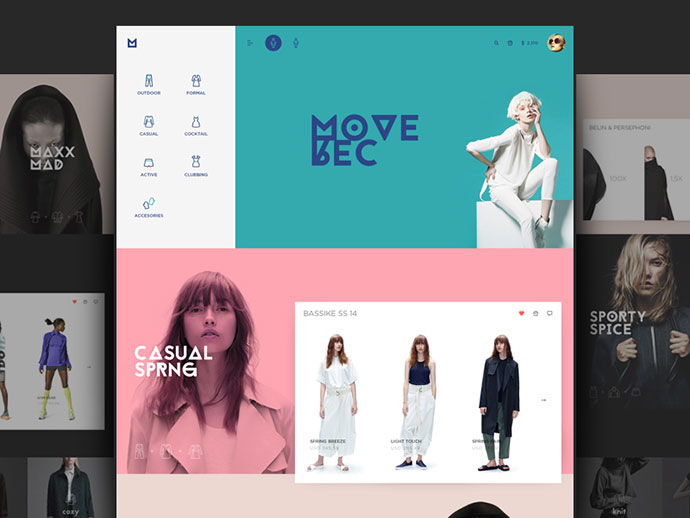 30 Brilliant Fashion Web Design Concepts Web Graphic