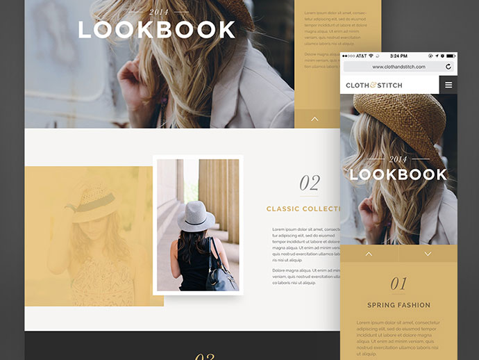 Cloth & Stitch Responsive by Megan Fox