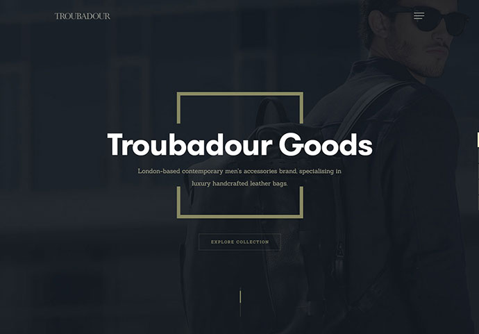 Troubadour - homepage by Kreativa Studio