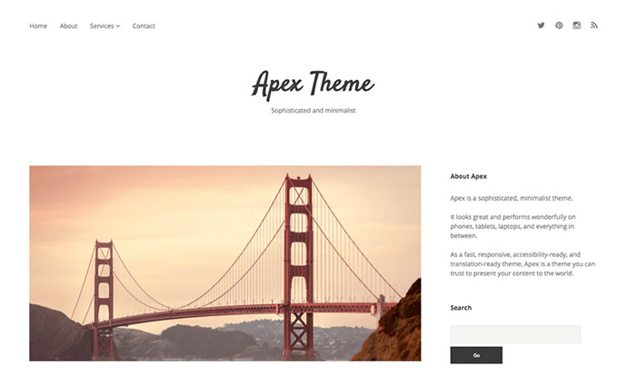 the top 25 free minimalist wordpress themes web graphic design