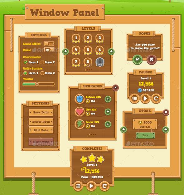 Timber Game GUI