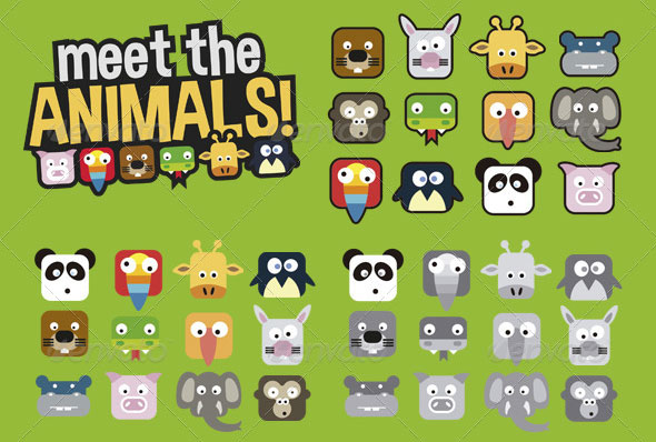 Animals Crush Game UI