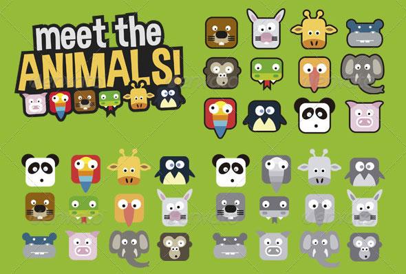 Animals Crush Game UI