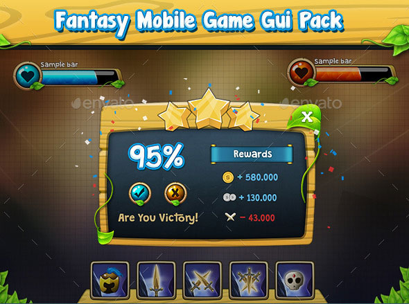 Fantasy Game Gui Pack v2