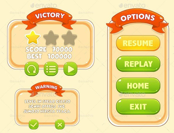 Game UI Pack 01