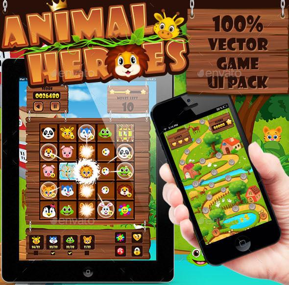 Animal Heroes Game UI Pack