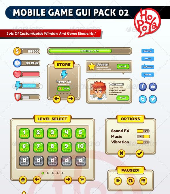 60 Fantastic Game UI HUD Elements - Bashooka