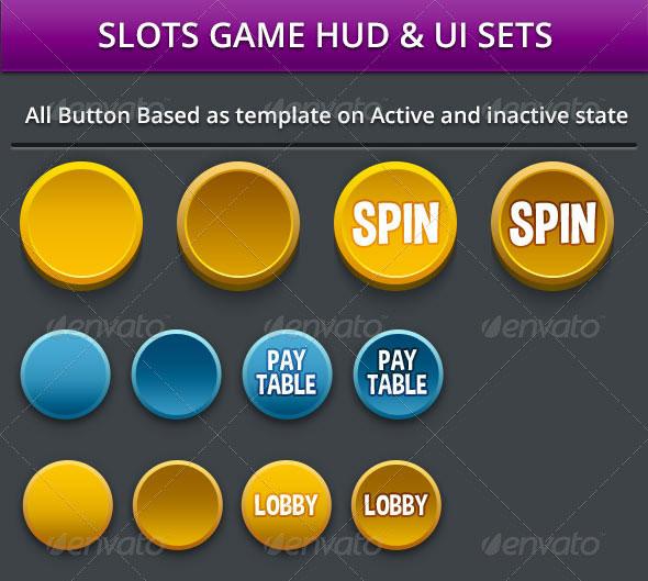 Slots Game HUD & UI Assets
