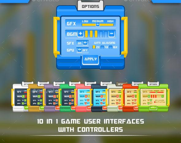 Mechatoon Game UI