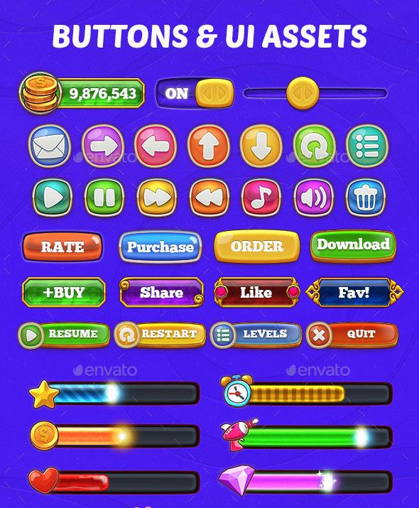 60 Fantastic Game UI & HUD Elements – Bashooka