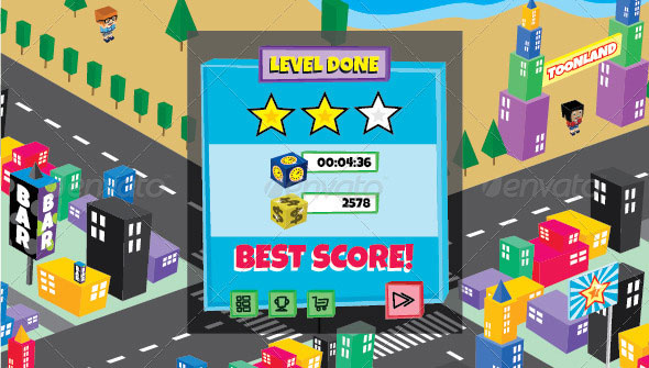 Toon City Game Assets & GUI Pack