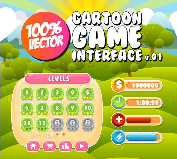 60 Fantastic Game UI & HUD Elements – Bashooka