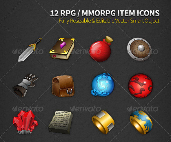 RPG Item Icons & Game UI