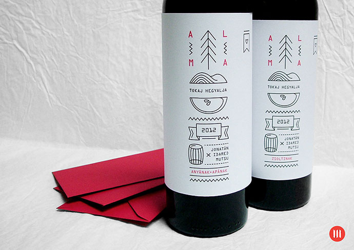 PRINT | Pálinka label and Xmas greeting card by Ndash